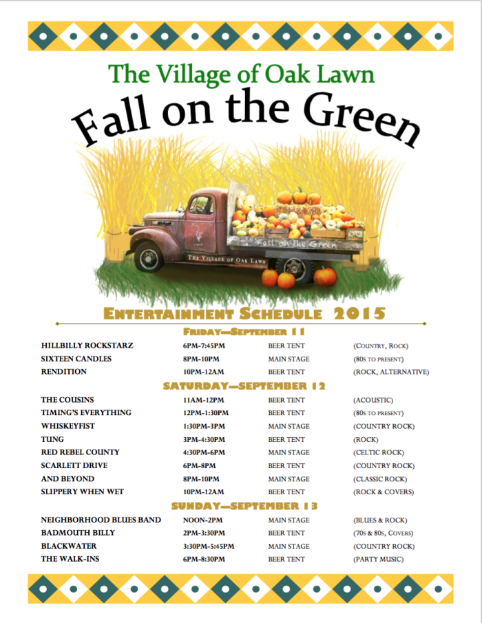 Fall on the Green Band Schedule