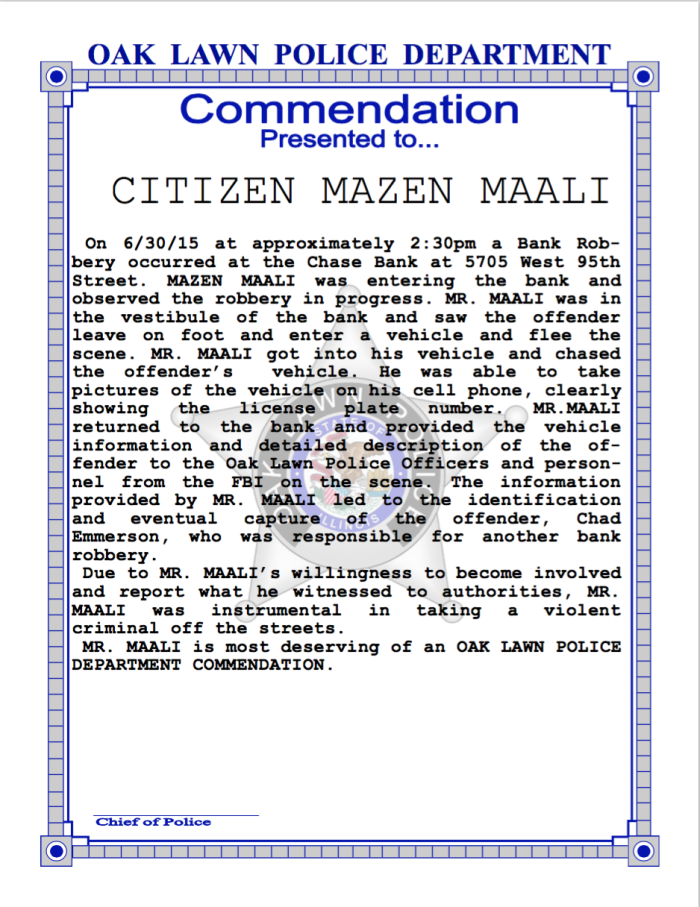 Citizen Commendation
