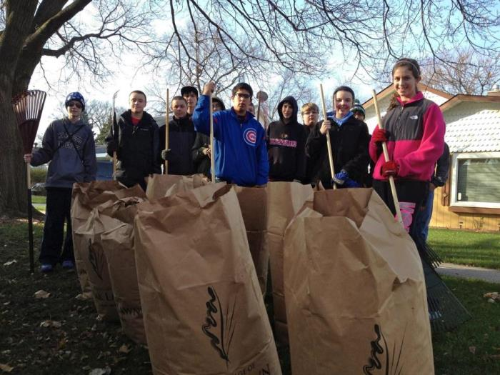 Leaf Raking Volunteers