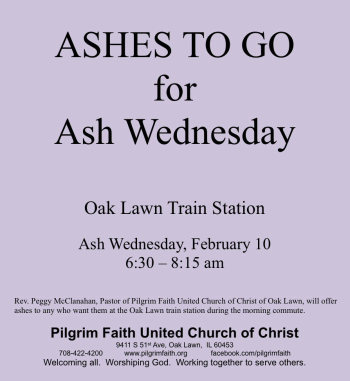 Ashes To Go-Pilgrim Faith