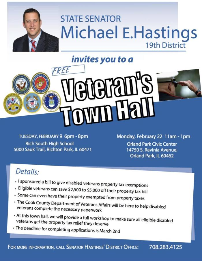 Mike Hastings, vets prop tax town hall(1)