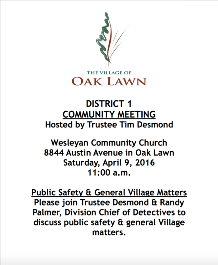 District 1 Community Meeting