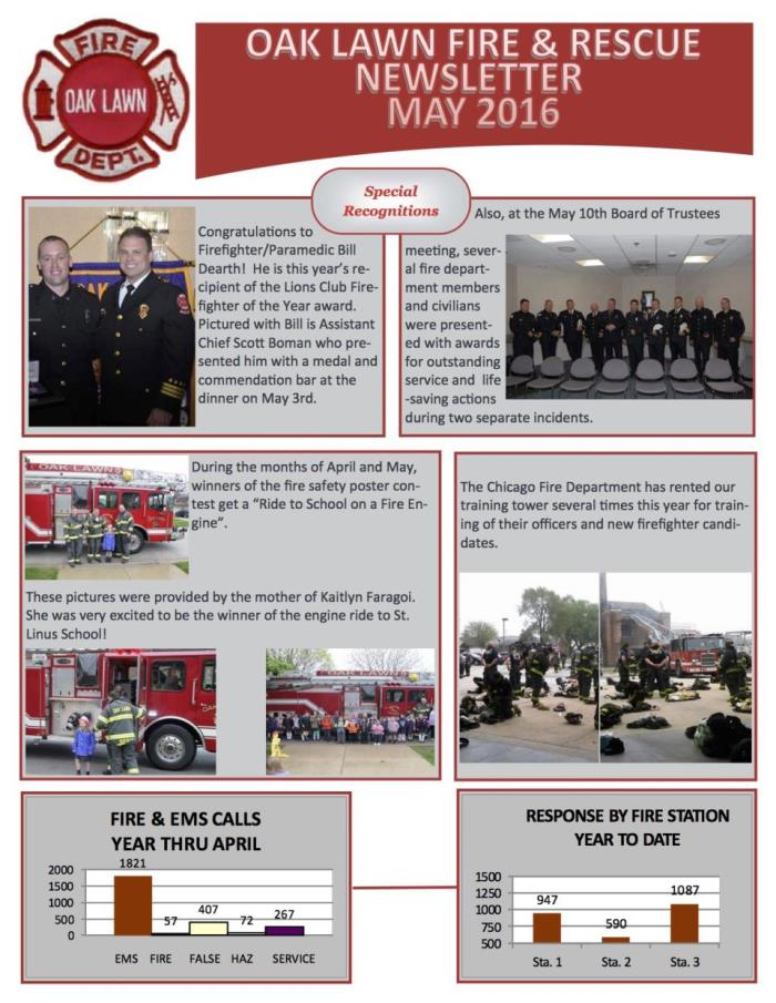 May 2016 newsletter OLFD